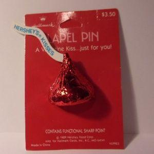 Vintage Hallmark Hershey's Kisses Lapel Pin 1989